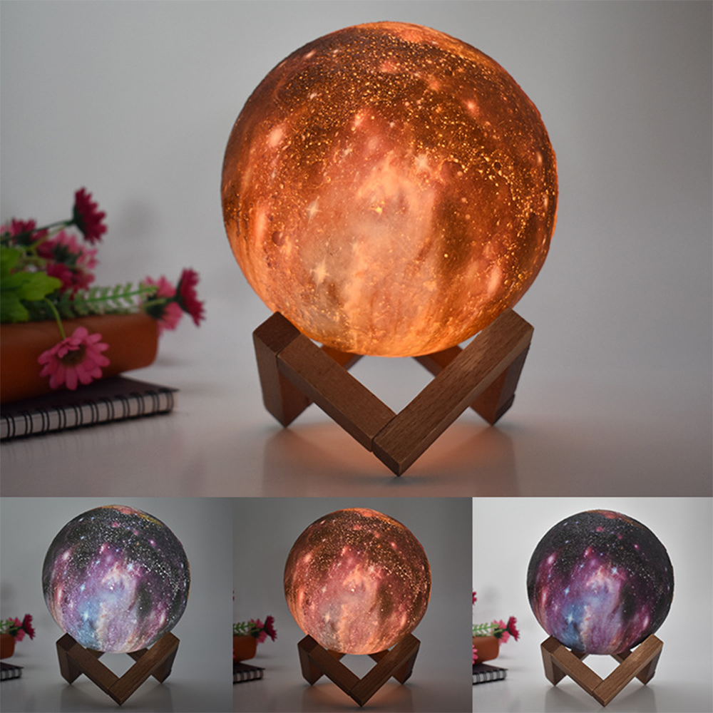 3D Printed Moon Galaxy Star Night Lamp and Room Light Décor_9