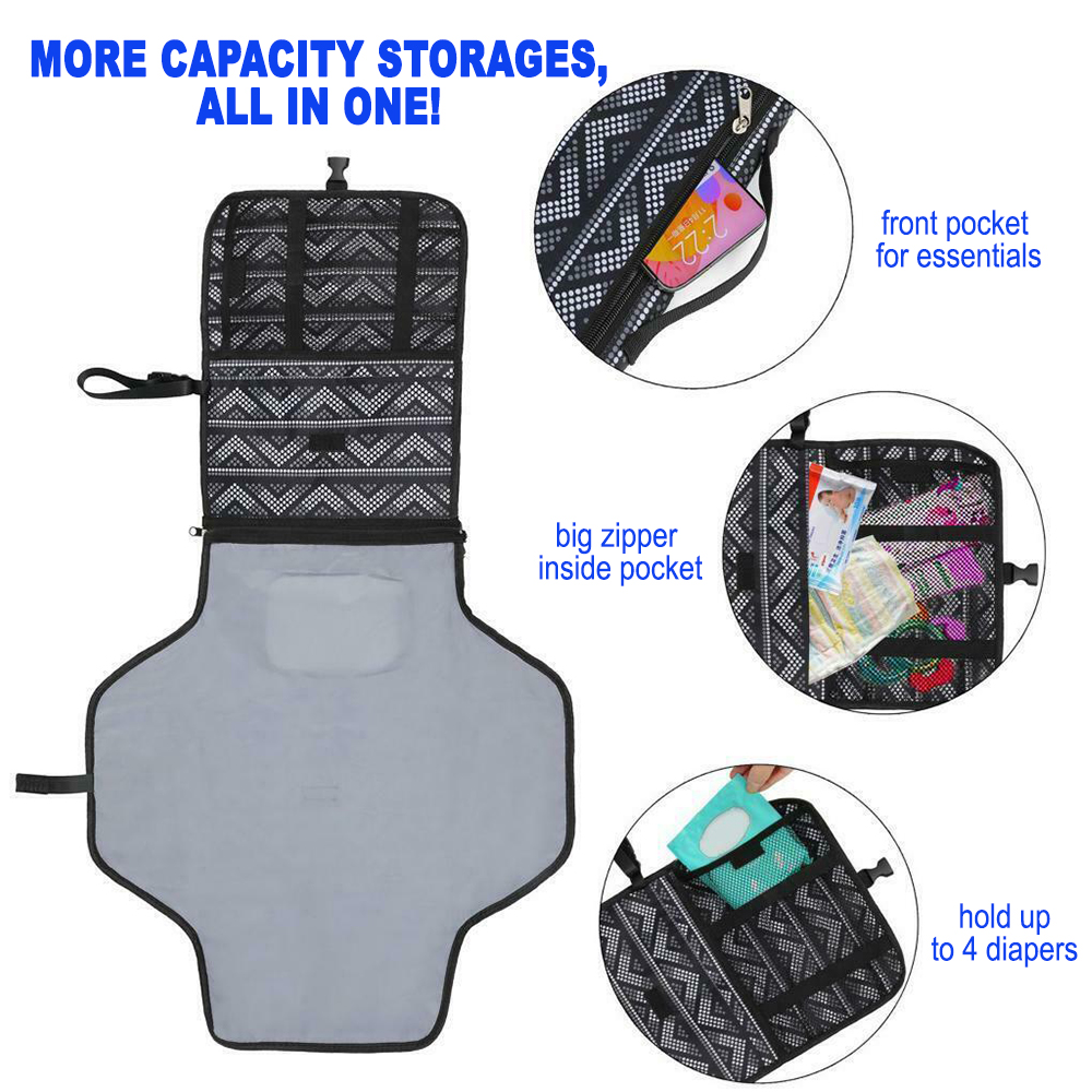 Portable Diaper Changing Pad Nappy Changing Detachable Clutch_2
