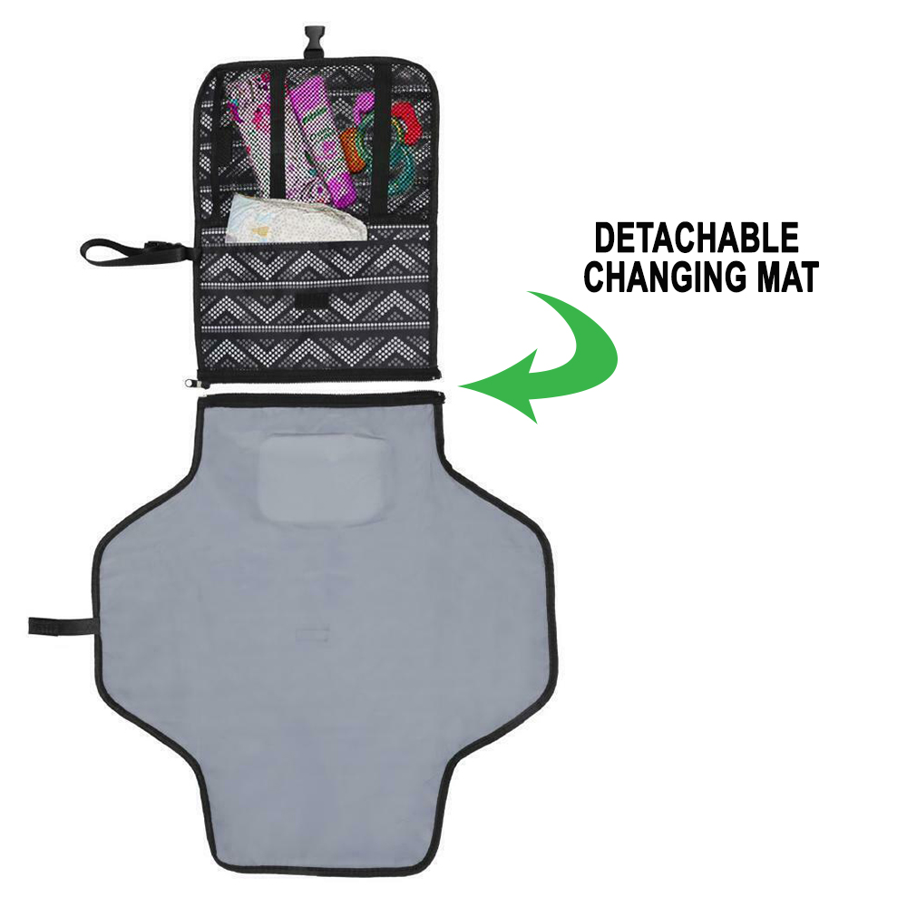 Portable Diaper Changing Pad Nappy Changing Detachable Clutch_3