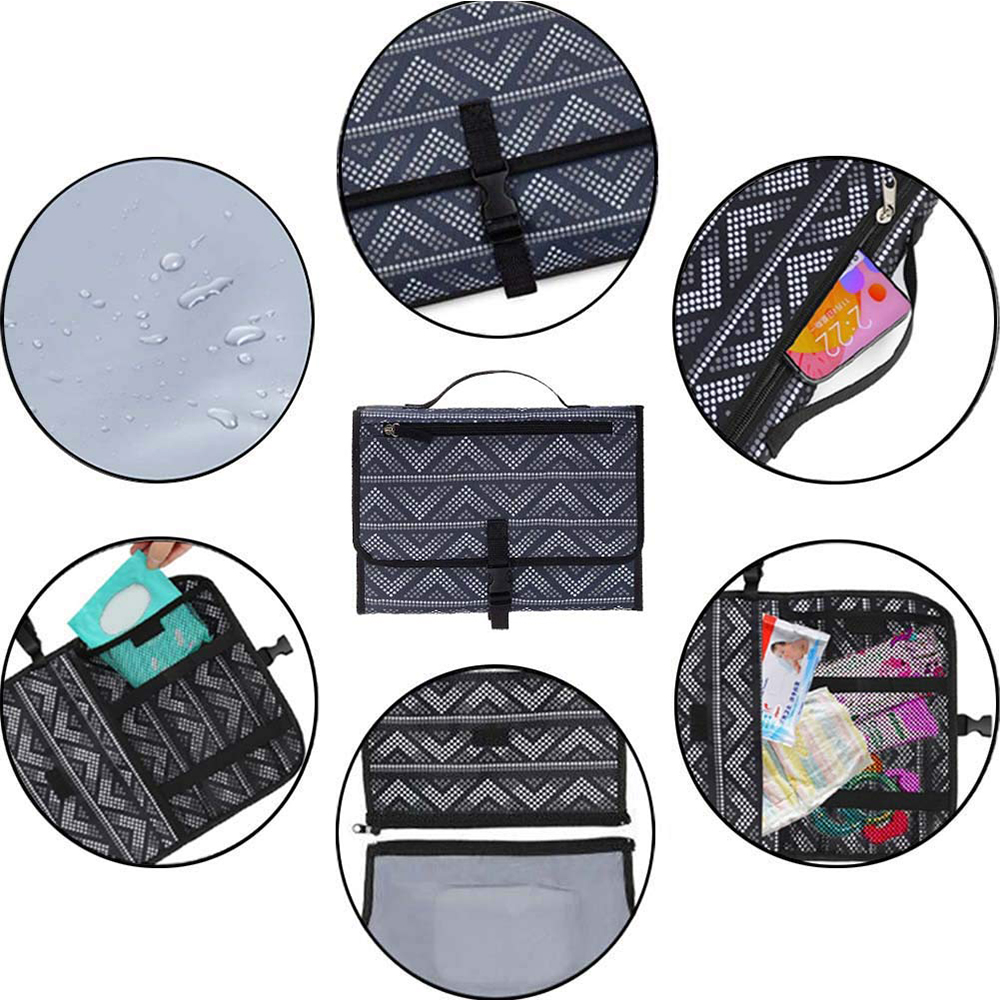 Portable Diaper Changing Pad Nappy Changing Detachable Clutch_6