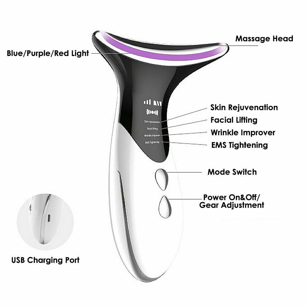 Skin Rejuvenation Home EMS LED Photon Therapy Neck Massager_3