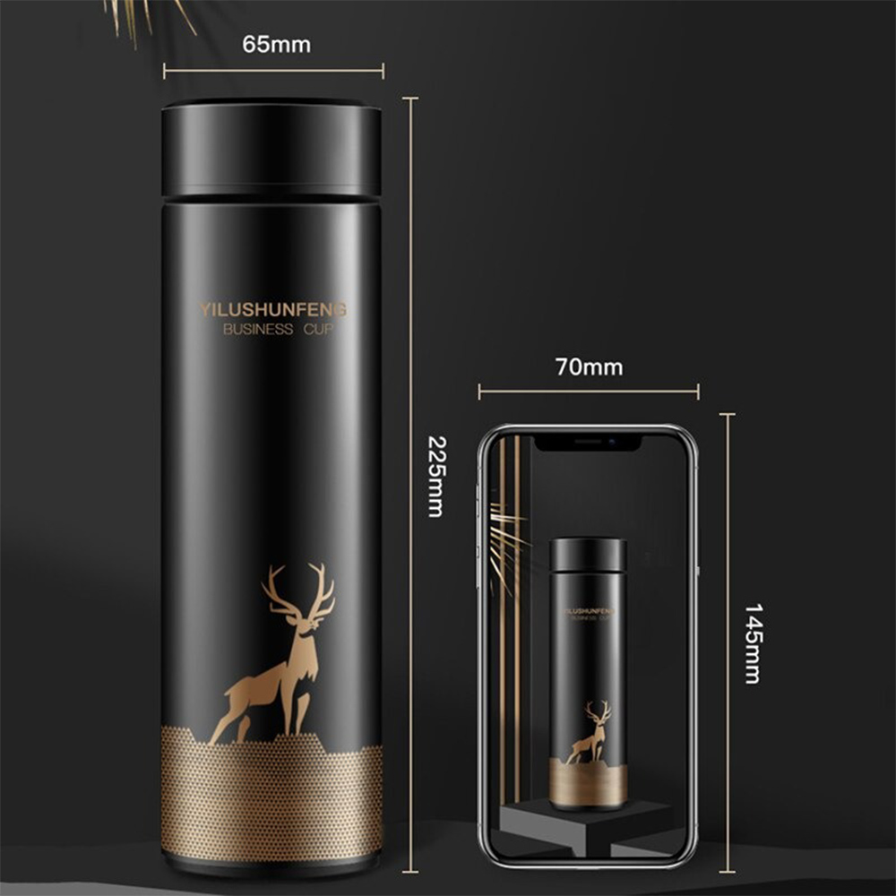 Insulated Hot Water Bottle Vacuum Thermos Flask with LCD Display_2