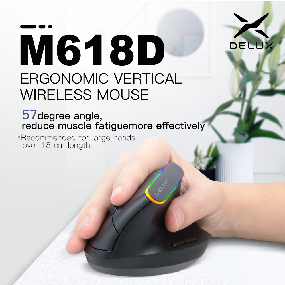 2.4G Wireless Vertical Ergonomic Optical Mouse with Receiver_7
