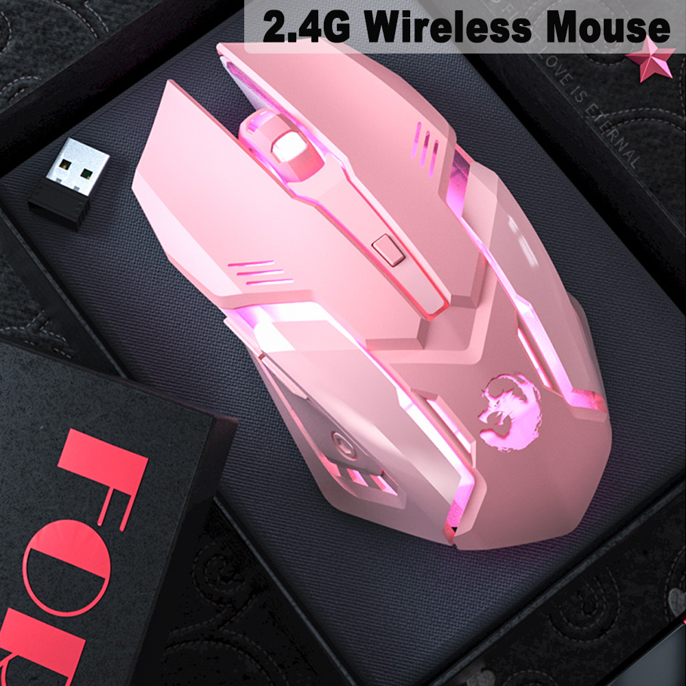 6 Keys Ergonomic Wireless Rechargeable Gaming Mouse with Backlight_6