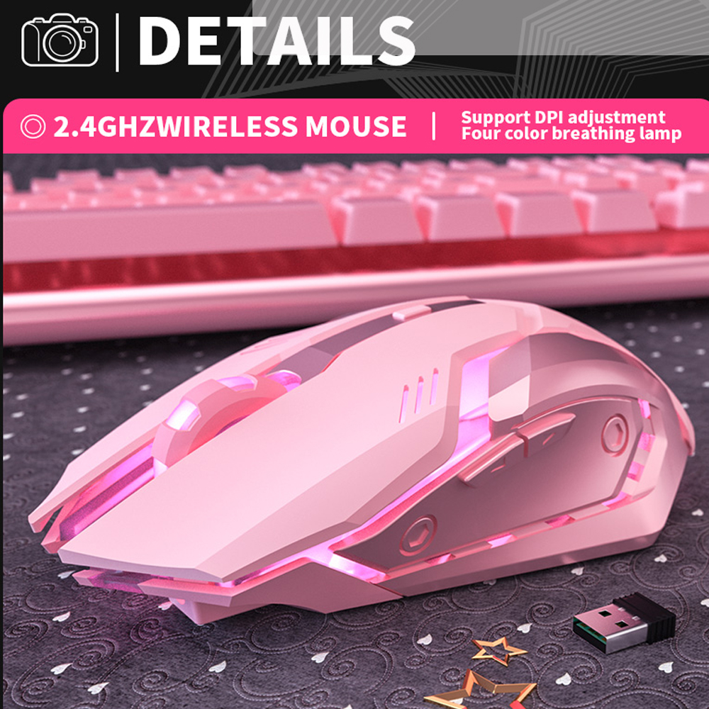 6 Keys Ergonomic Wireless Rechargeable Gaming Mouse with Backlight_7