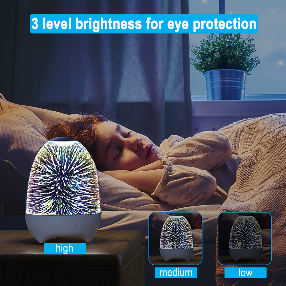 3D Star Sky Crystal Touch Control Bluetooth Speaker with LED Night Light_8