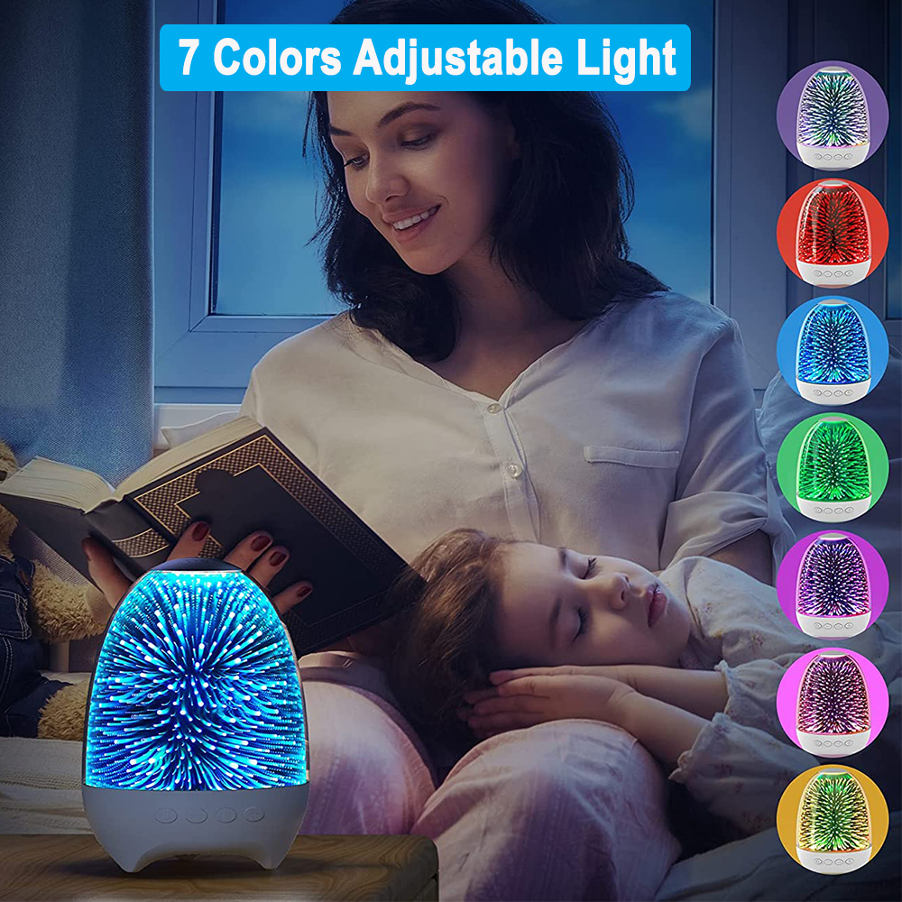 3D Star Sky Crystal Touch Control Bluetooth Speaker with LED Night Light_9