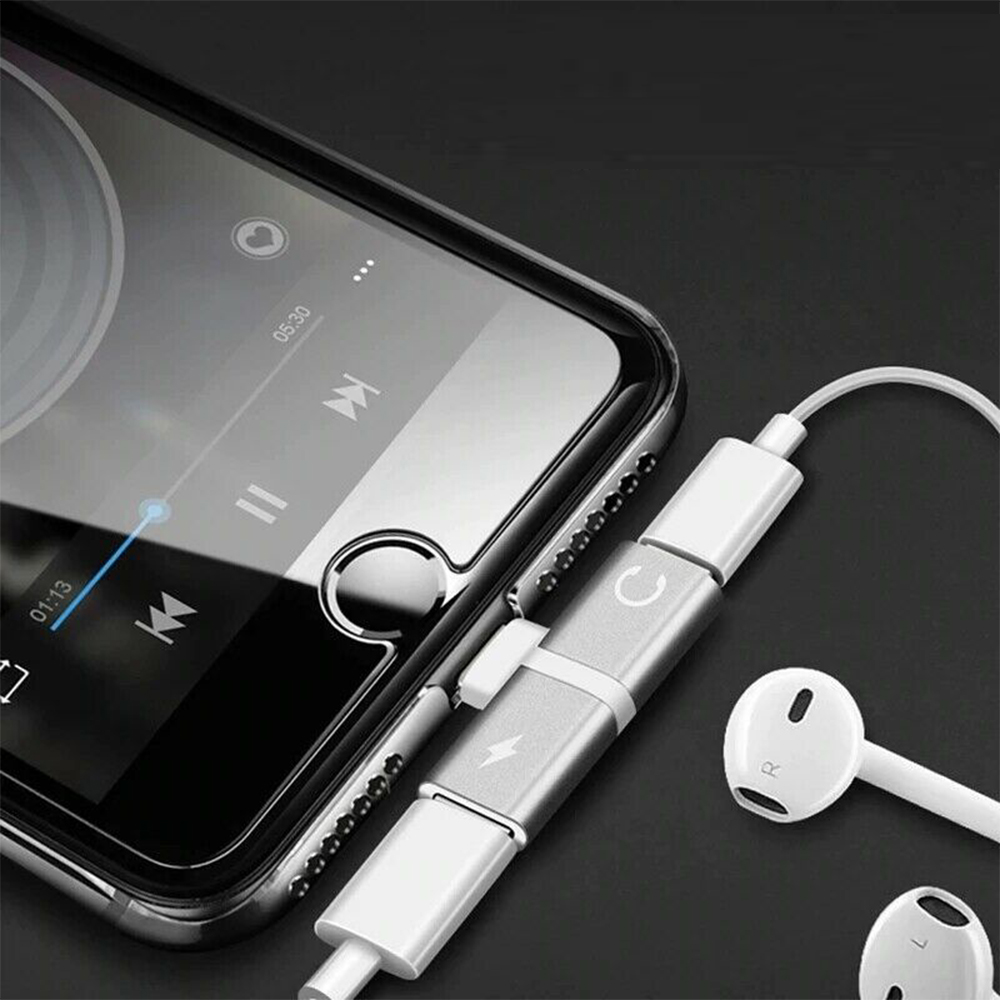 T- Shaped Dual Port Headset and Charger Splitter for Apple iPhone_6
