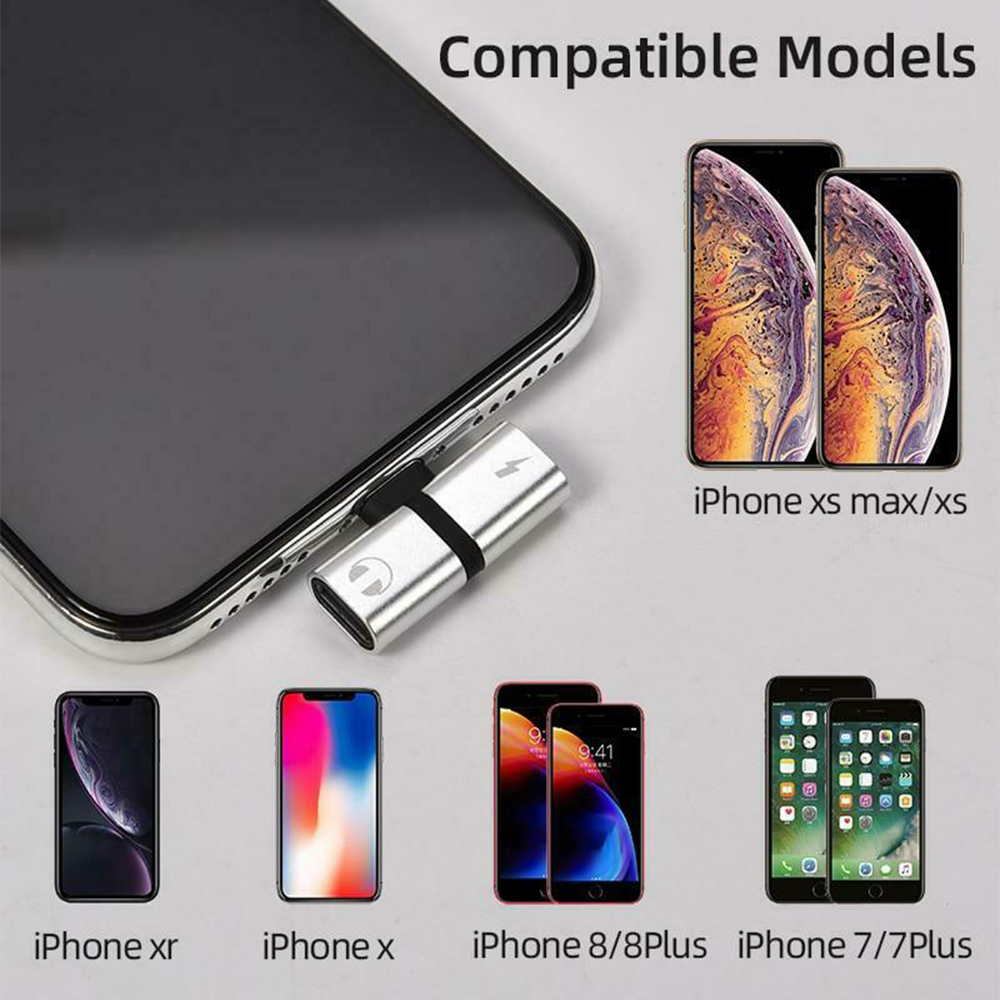 T- Shaped Dual Port Headset and Charger Splitter for Apple iPhone_2