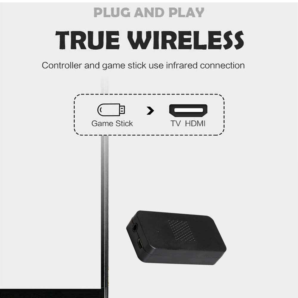Wireless Handheld TV Gaming Console with Built-in Retro Games_4