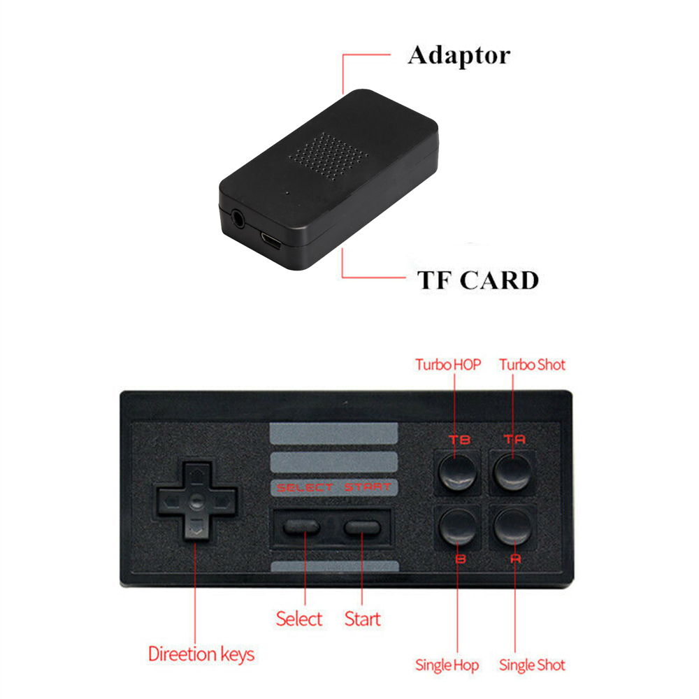 Wireless Handheld TV Gaming Console with Built-in Retro Games_8