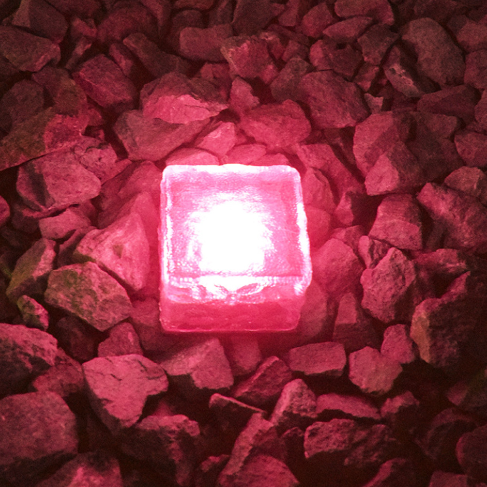 Solar Powered Multi-Color Light Up LED Light Cubes with Switch_1