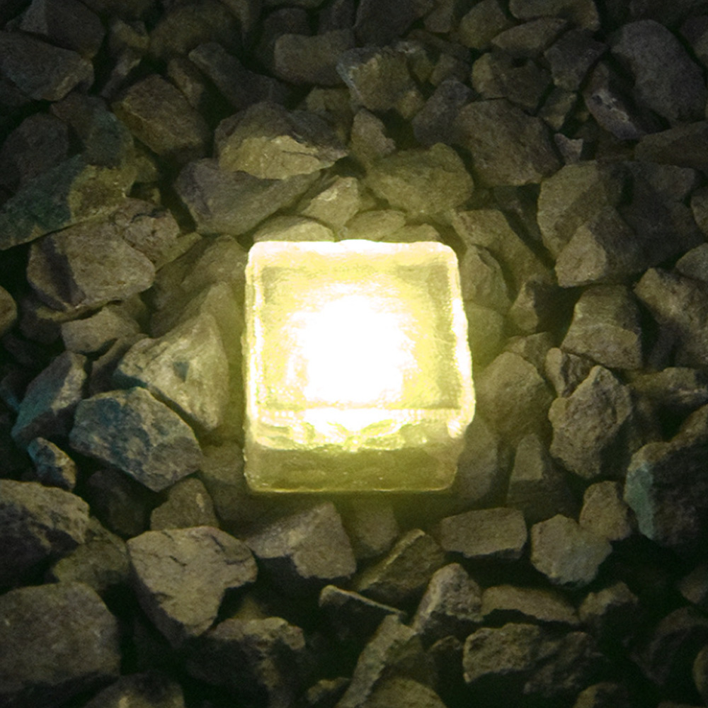 Solar Powered Multi-Color Light Up LED Light Cubes with Switch_2