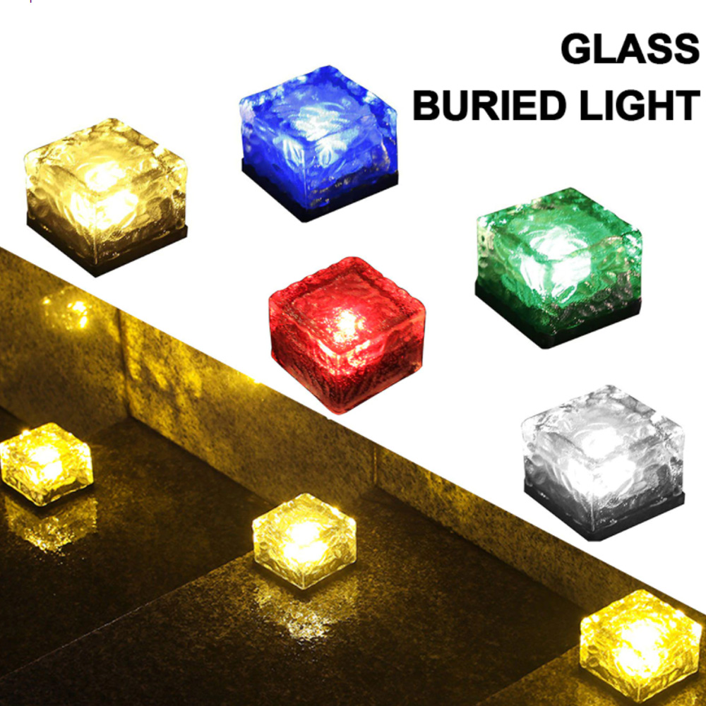 Solar Powered Multi-Color Light Up LED Light Cubes with Switch_4