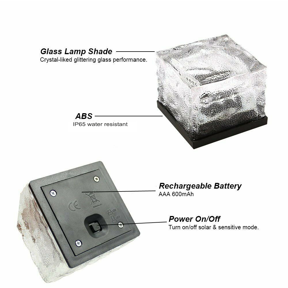 Solar Powered Multi-Color Light Up LED Light Cubes with Switch_8