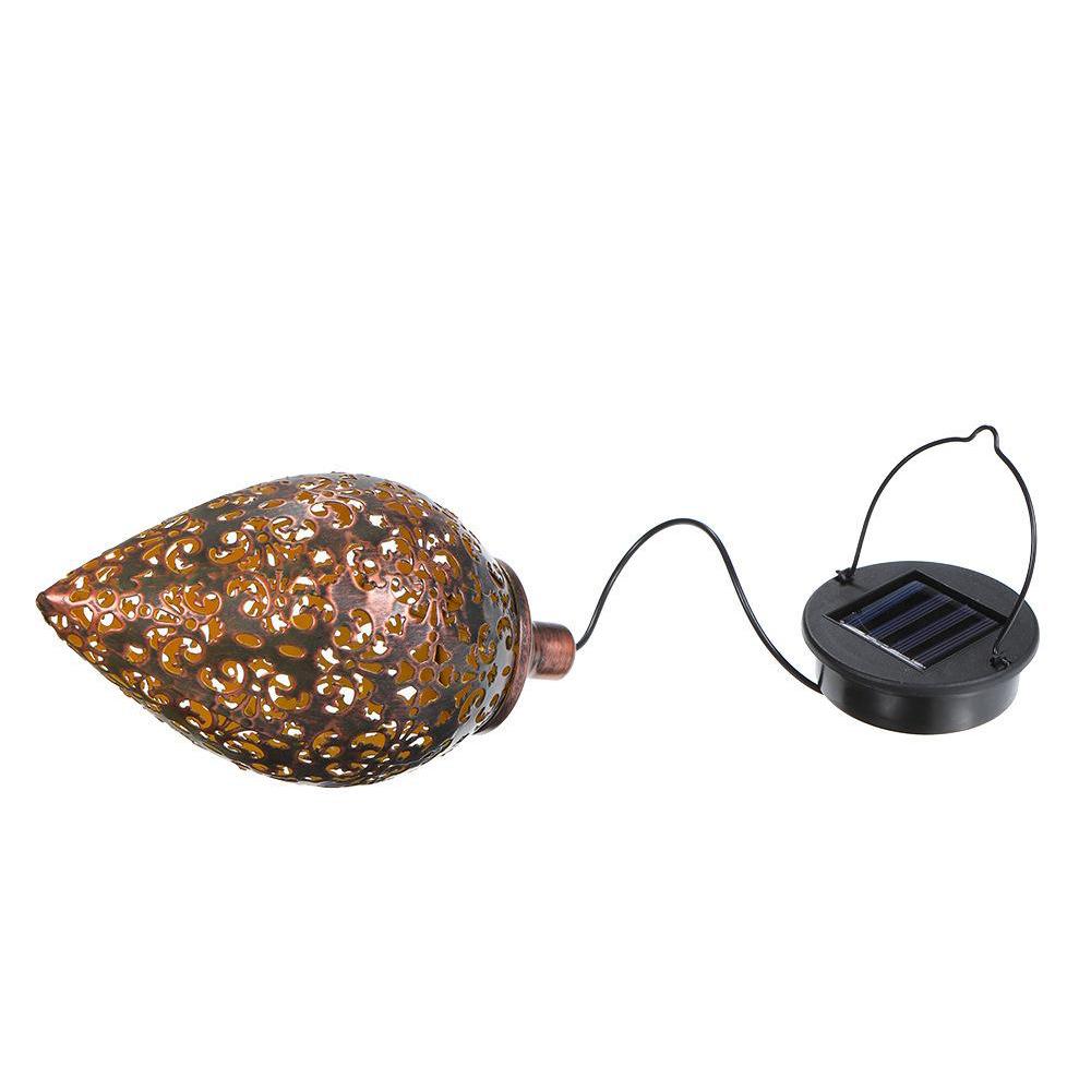 Hanging Solar Lantern for Outdoor Garden Metal Light Lamp_1