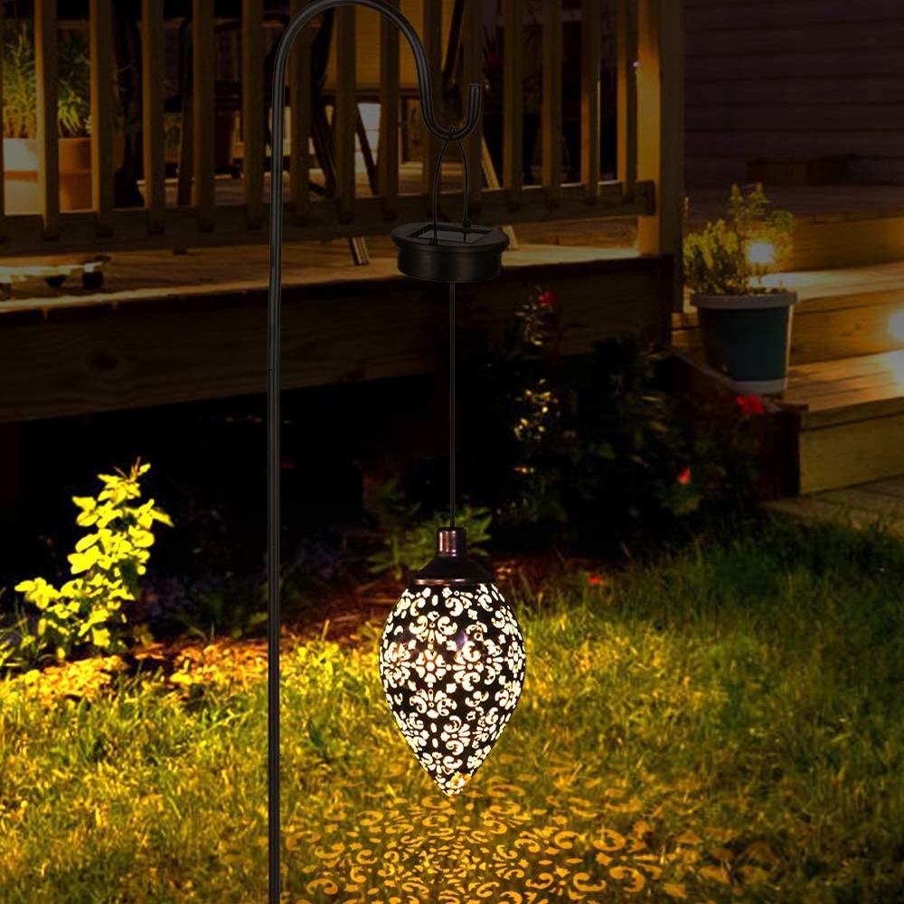Hanging Solar Lantern for Outdoor Garden Metal Light Lamp_2