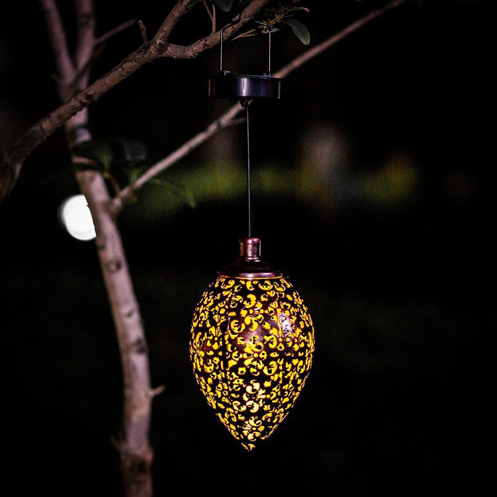 Hanging Solar Lantern for Outdoor Garden Metal Light Lamp_3