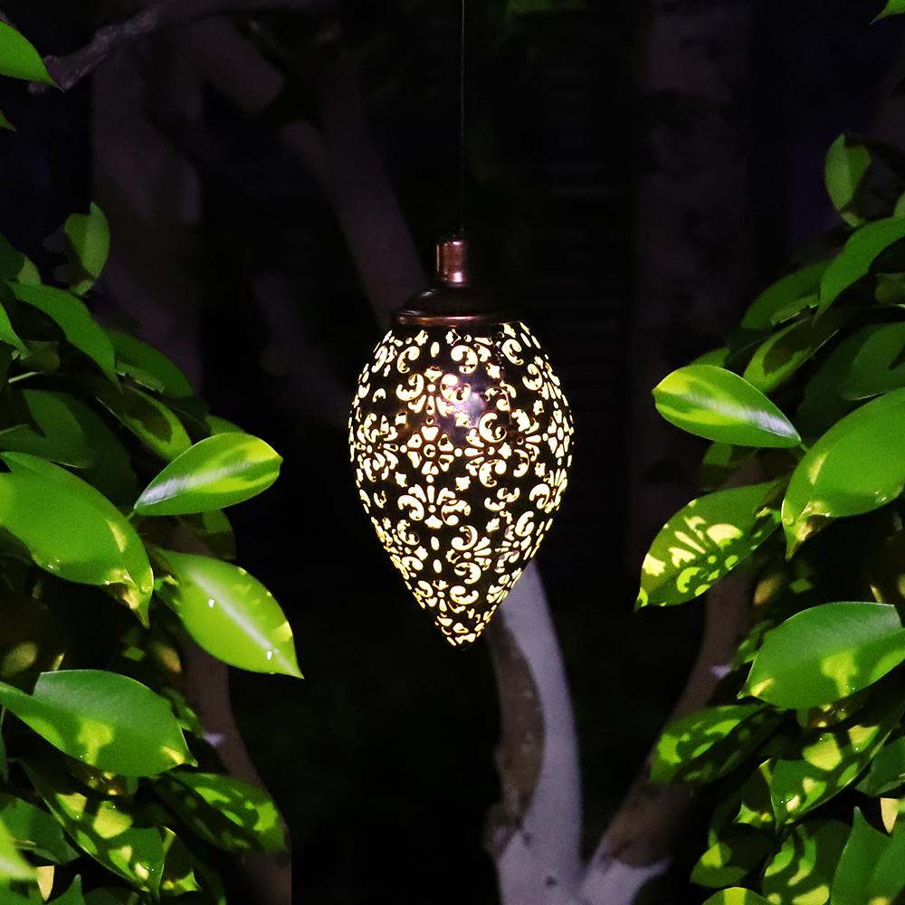 Hanging Solar Lantern for Outdoor Garden Metal Light Lamp_4