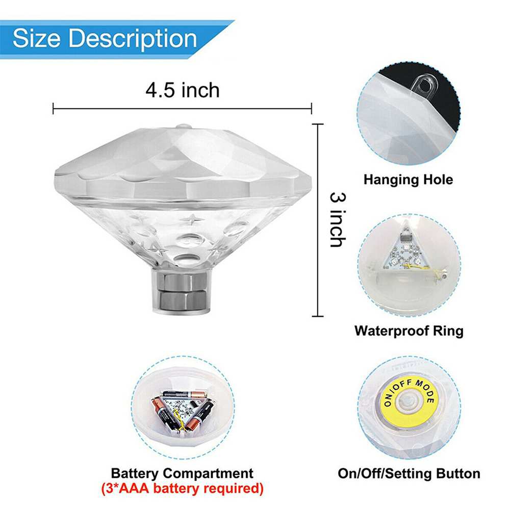 Floating Underwater RGB LED Light for Swimming Pool Bath Tubs_7