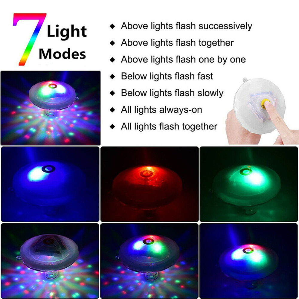 Floating Underwater RGB LED Light for Swimming Pool Bath Tubs_4