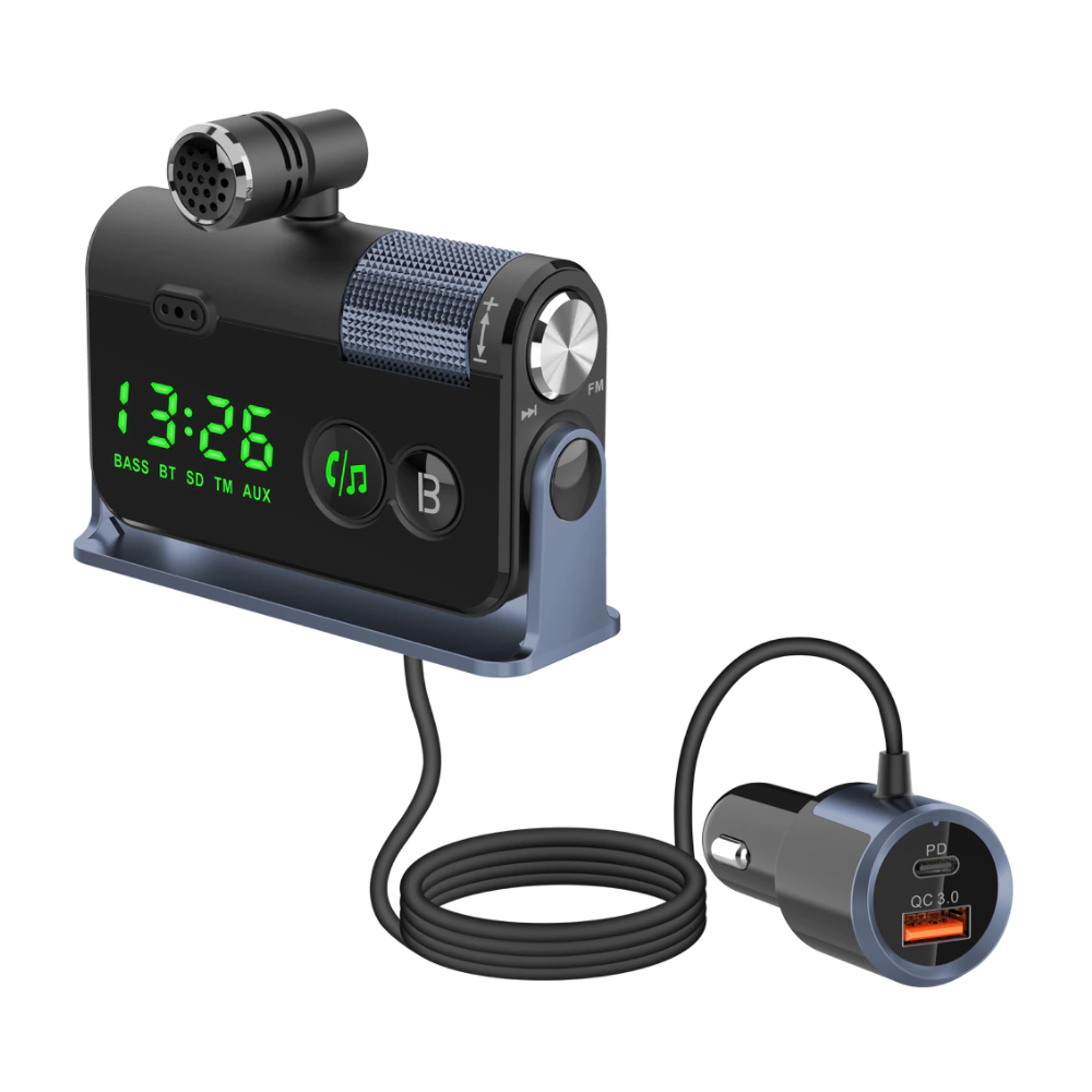 QC3.0 Car Charger Mp3 Player Handsfree FM Transmitter_6