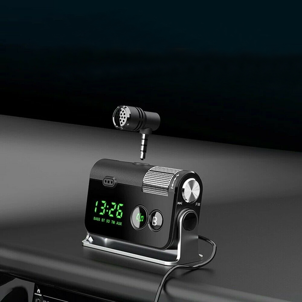 QC3.0 Car Charger Mp3 Player Handsfree FM Transmitter_8