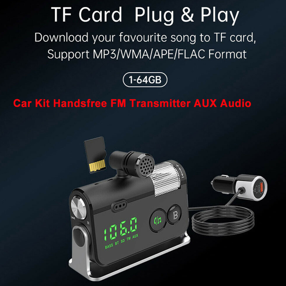 QC3.0 Car Charger Mp3 Player Handsfree FM Transmitter_9