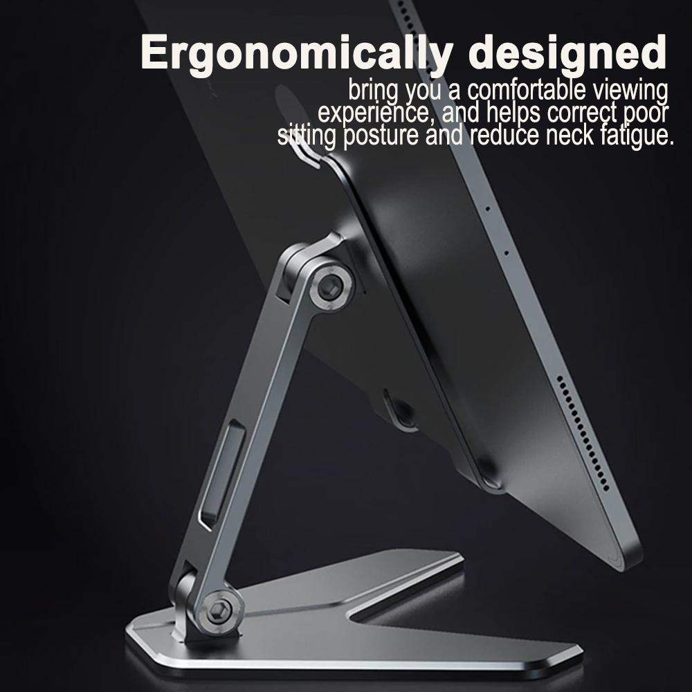Metal Foldable Tablet Tabletop Vertical Stand with Adjustable Angle_5