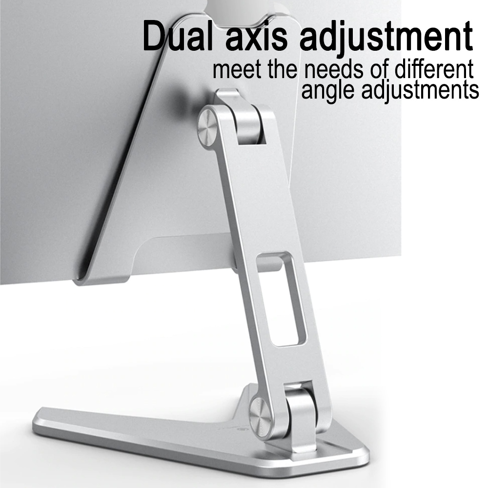 Metal Foldable Tablet Tabletop Vertical Stand with Adjustable Angle_6