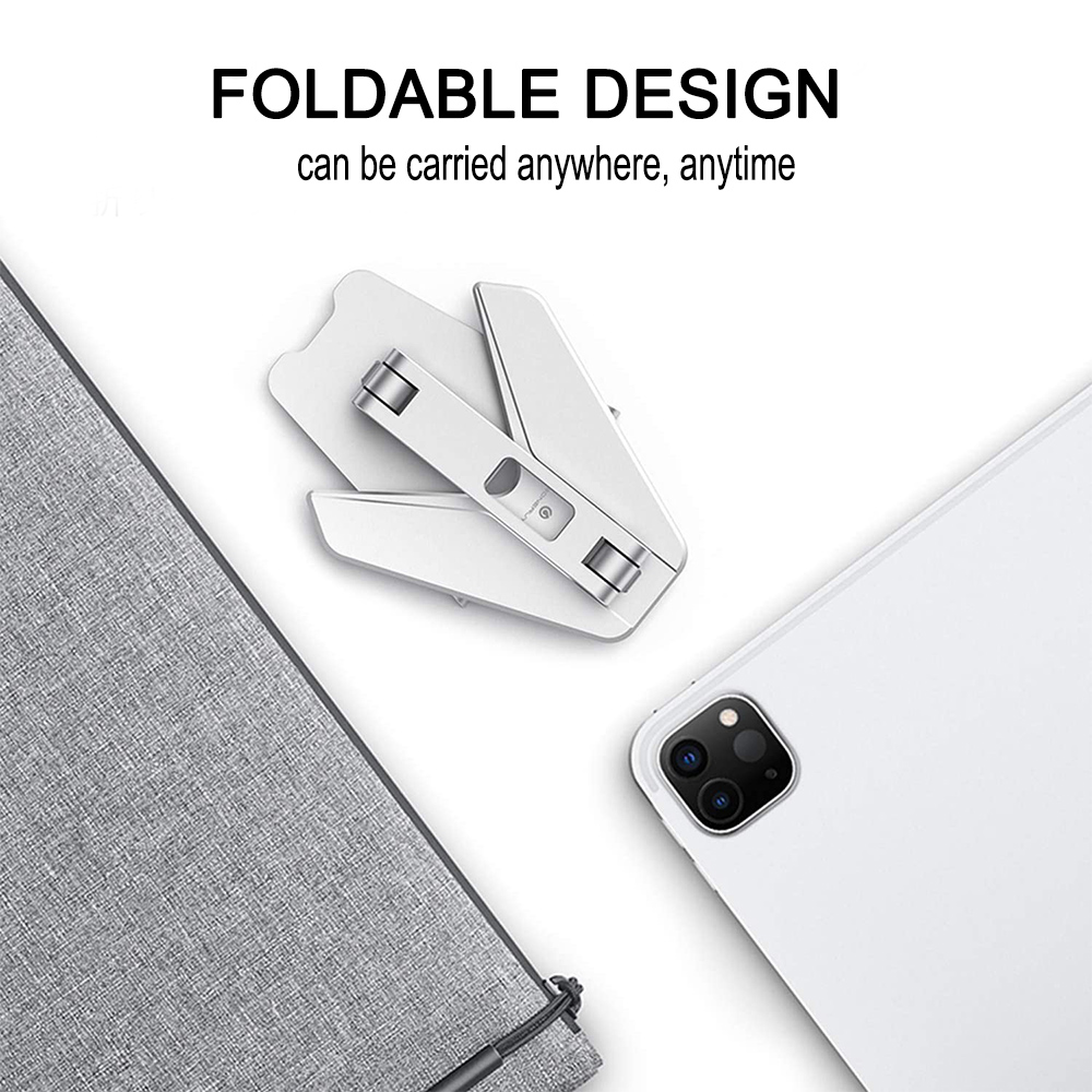 Metal Foldable Tablet Tabletop Vertical Stand with Adjustable Angle_8