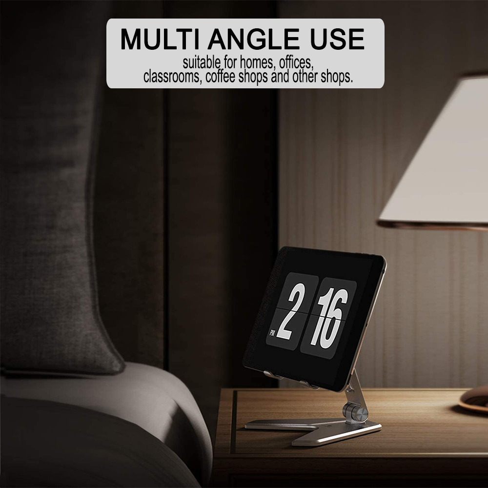 Metal Foldable Tablet Tabletop Vertical Stand with Adjustable Angle_1