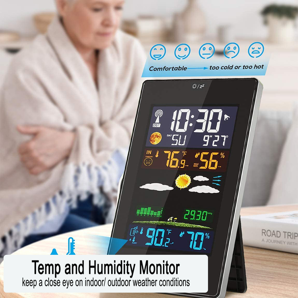 Wireless Indoor and Outdoor Weather Station with Color Screen_6