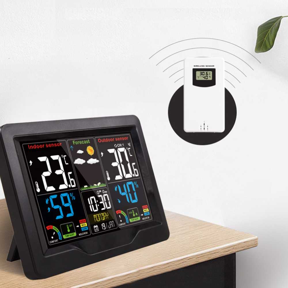 Wireless Thermometer and Humidity Monitor with LCD Color Display_3