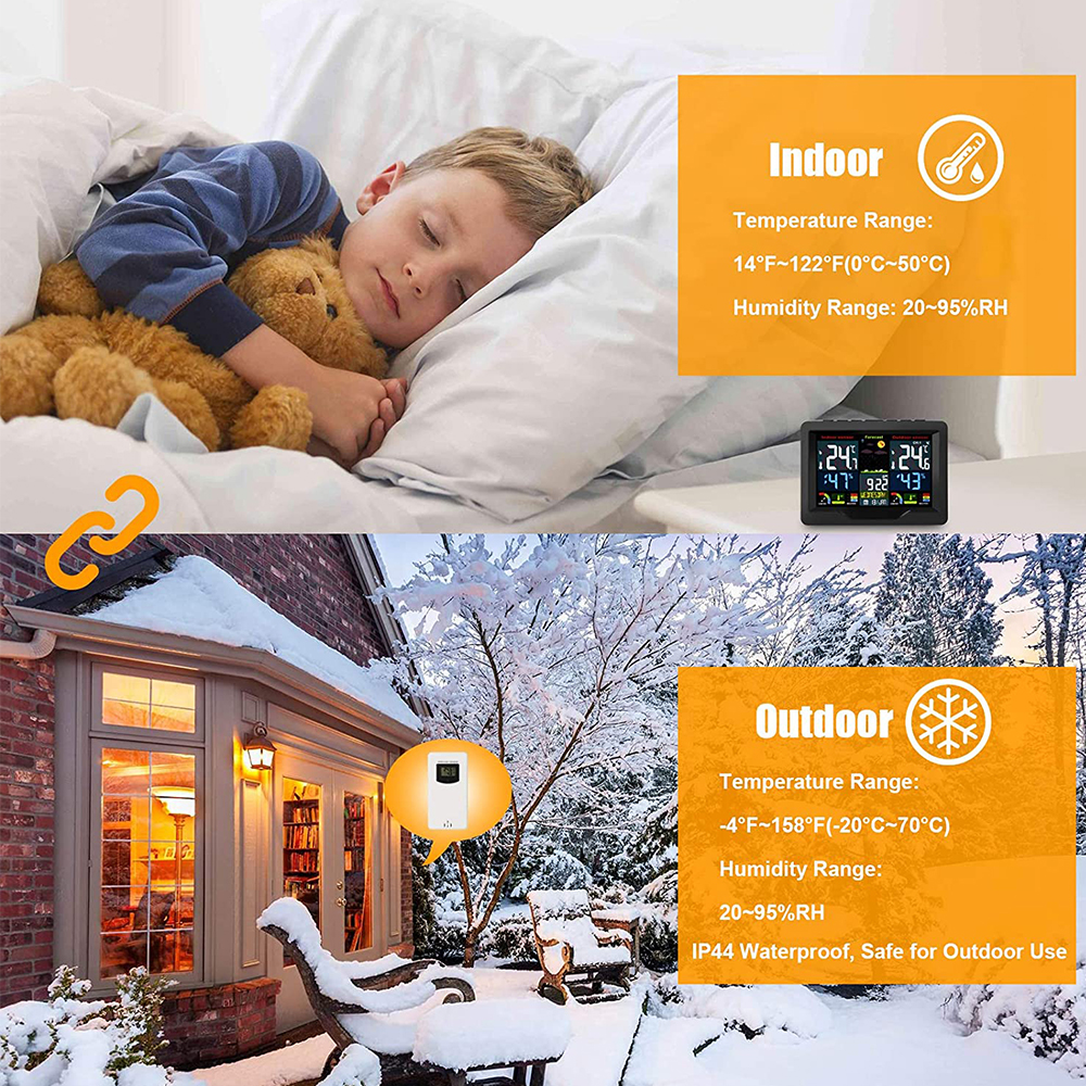 Wireless Thermometer and Humidity Monitor with LCD Color Display_8