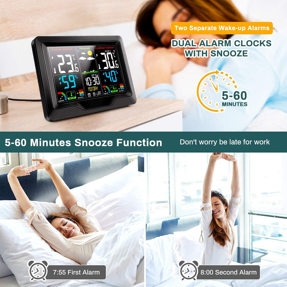 Wireless Thermometer and Humidity Monitor with LCD Color Display_4