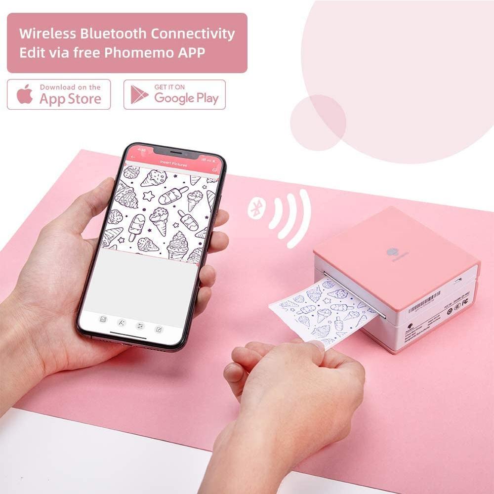 M02 Mini Pocket Wireless Thermal Printer for Mobile Phone_1
