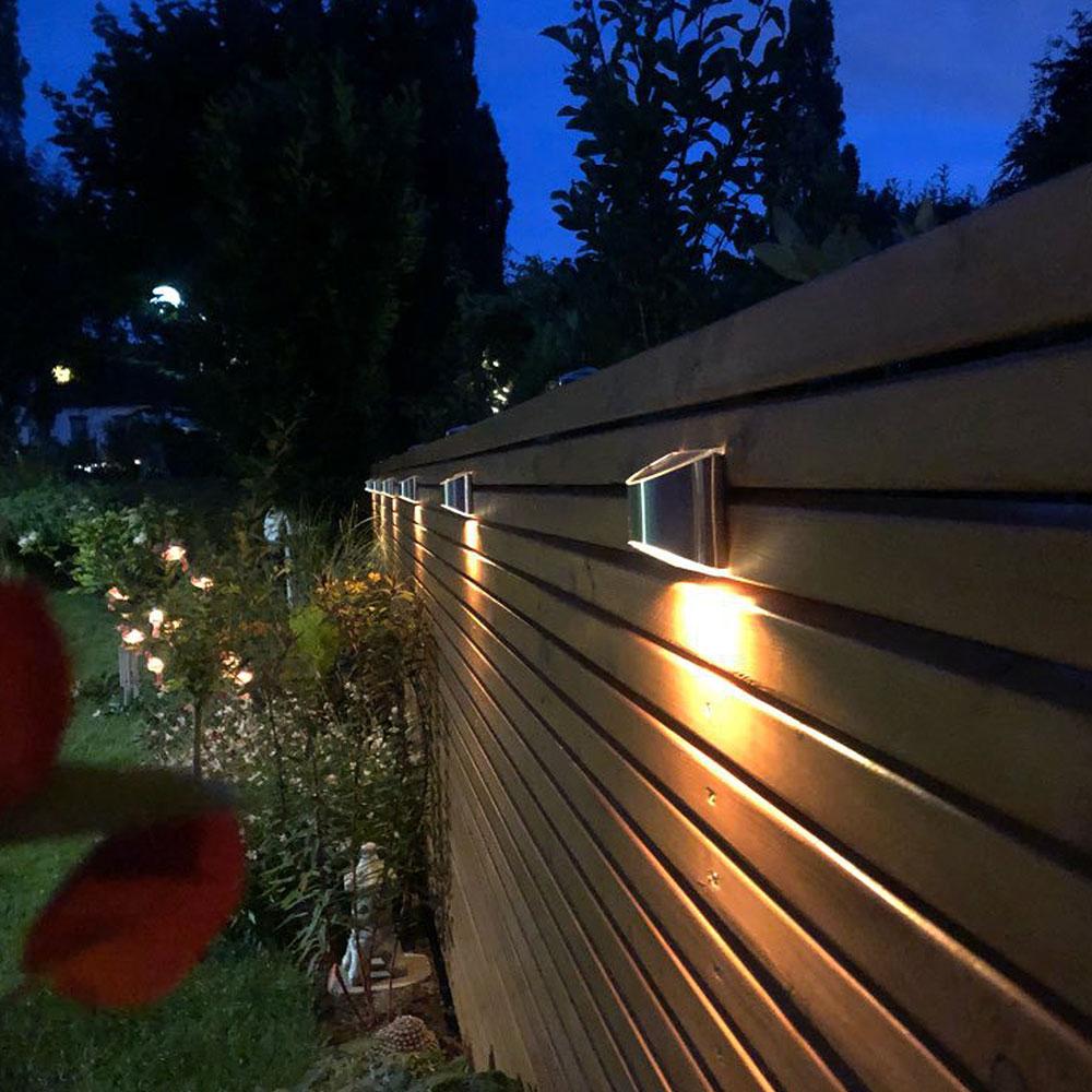 2 Packs Solar Powered Outdoor Wall Lamp Garden Step Light_3