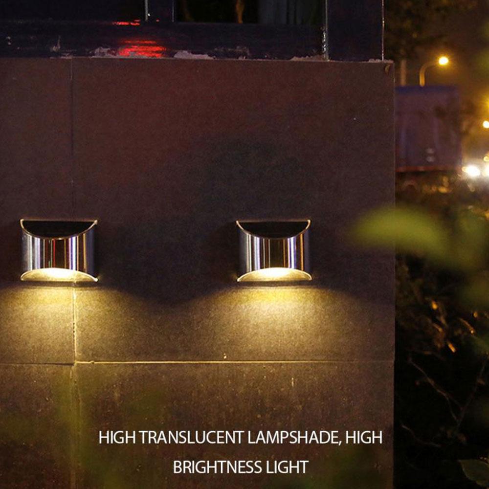2 Packs Solar Powered Outdoor Wall Lamp Garden Step Light_6
