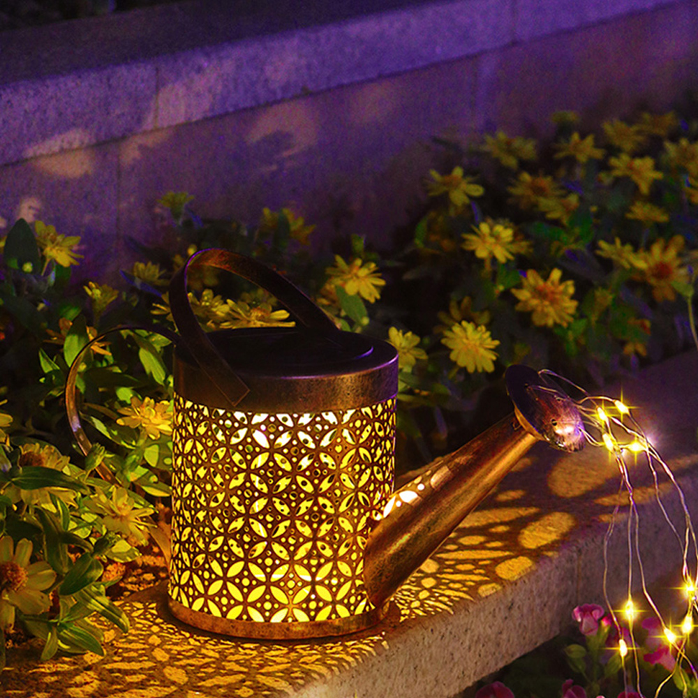 Solar Powered Watering Can LED String Light Outdoor Garden Décor_9
