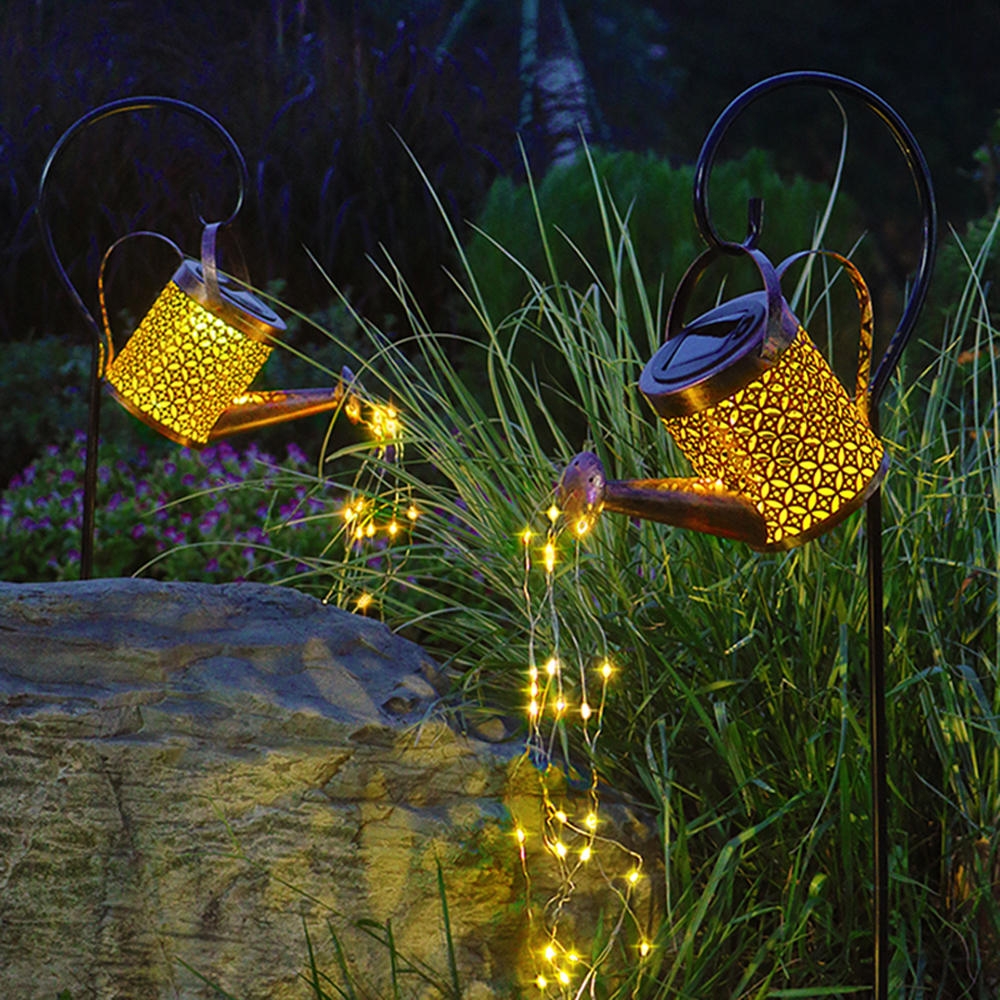 Solar Powered Watering Can LED String Light Outdoor Garden Décor_8
