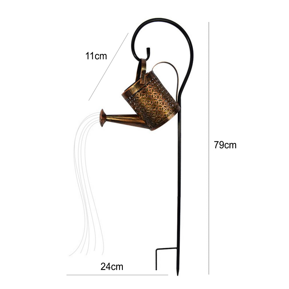 Solar Powered Watering Can LED String Light Outdoor Garden Décor_5