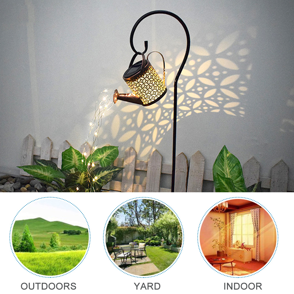 Solar Powered Watering Can LED String Light Outdoor Garden Décor_2