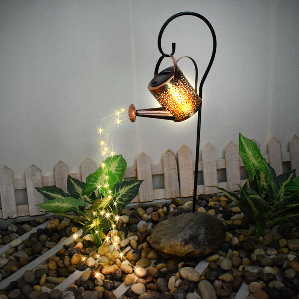 Solar Powered Watering Can LED String Light Outdoor Garden Décor_3