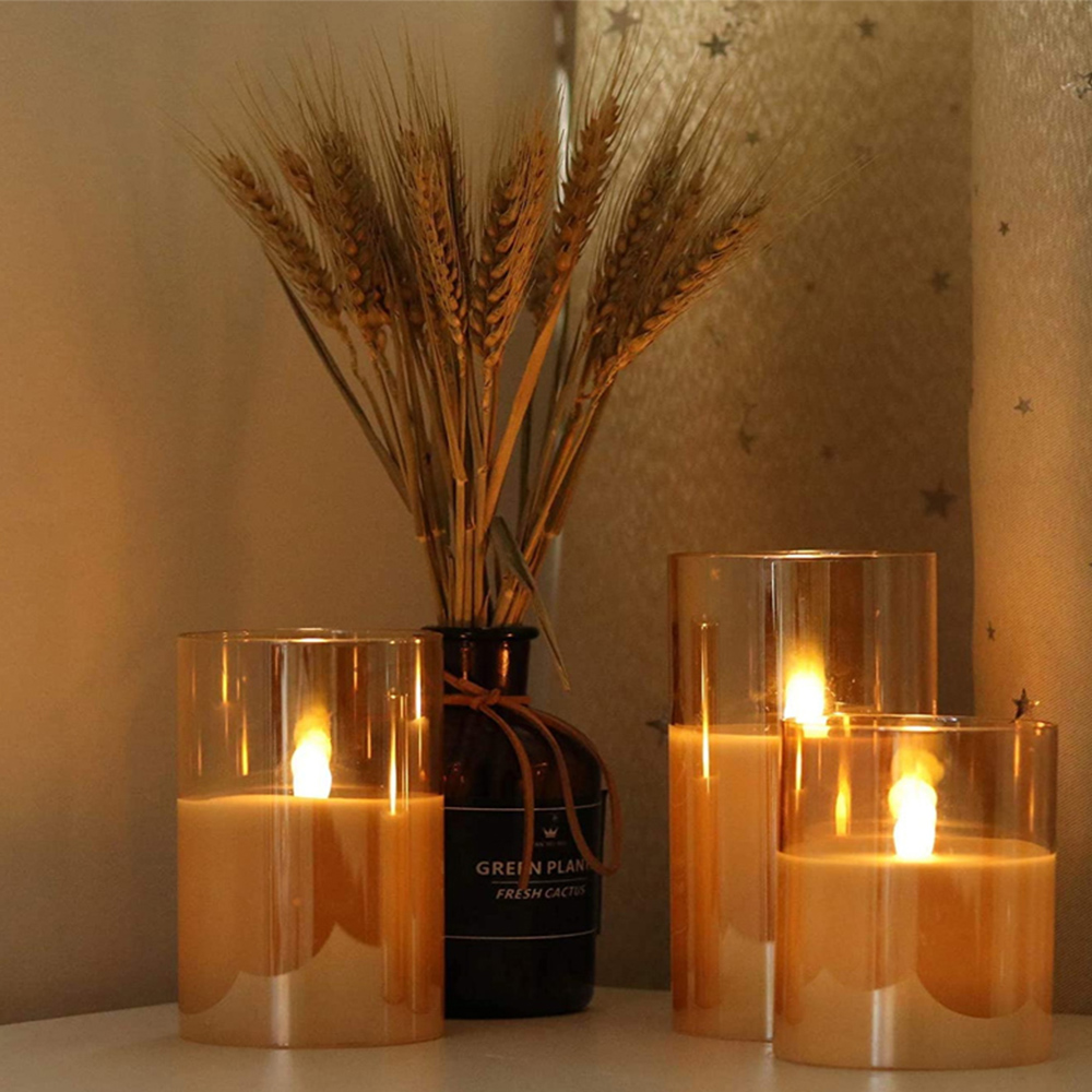 Flameless Flickering Rechargeable LED Wickless Candle_3