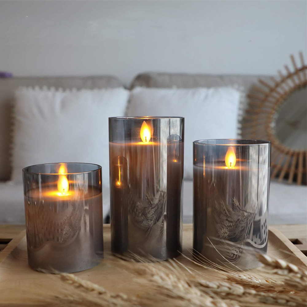 Flameless Flickering Rechargeable LED Wickless Candle_4