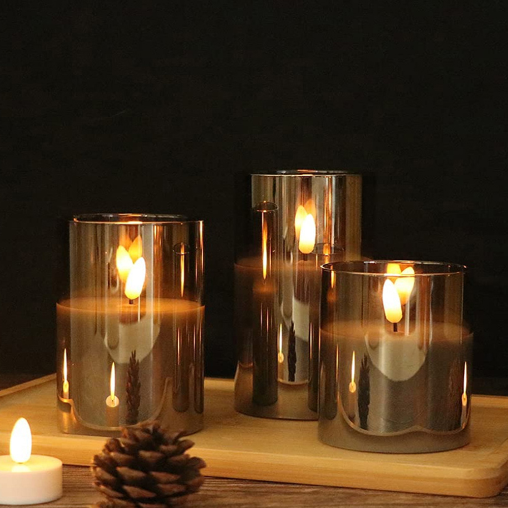 Flameless Flickering Rechargeable LED Wickless Candle_5