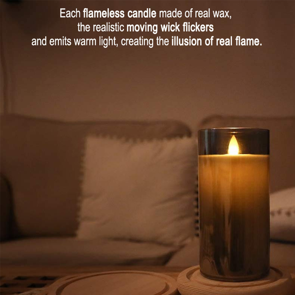 Flameless Flickering Rechargeable LED Wickless Candle_7