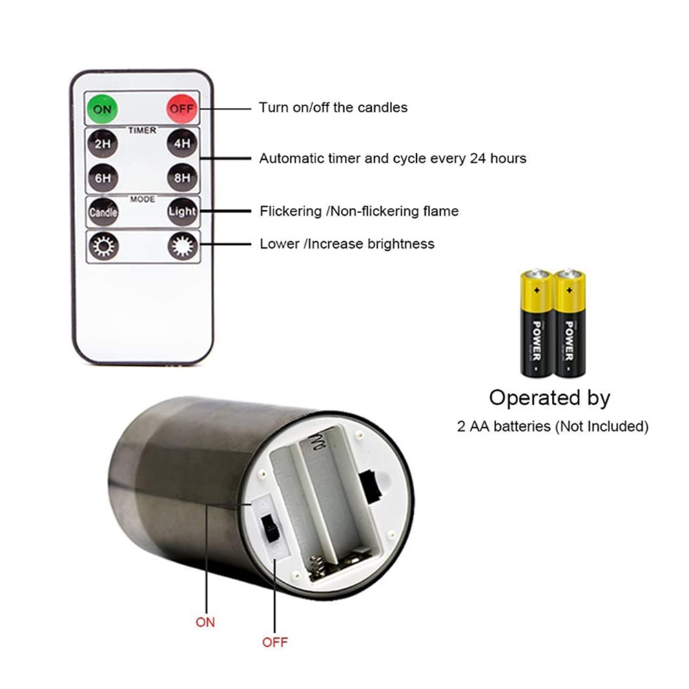 Flameless Flickering Rechargeable LED Wickless Candle_6