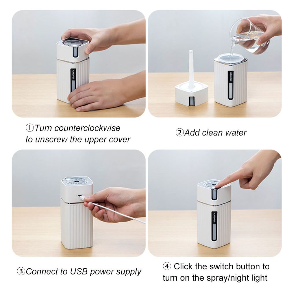 300ml Ultrasonic Electric Humidifier Cool Mist Aroma Diffuser_8